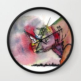 I'd rather be a rhino Wall Clock