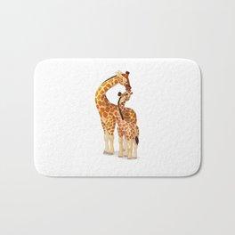 Mother and child giraffes Bath Mat