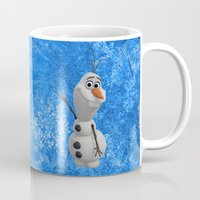 olaf Mugs featuring Olaf by Maggie Jane Photography