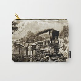 Vintage steam train illustration Carry-All Pouch