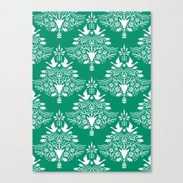 Christmas Paper Cutting Green Canvas Print