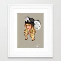 stevie nicks Framed Art Prints featuring Mama Stevie by Monica Lara Art