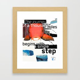 Lao tzu quote - The journey Framed Art Print