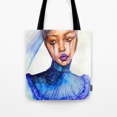 Lady Crying Tote Bag