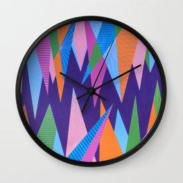 Crystal Stalagmites Wall Clock