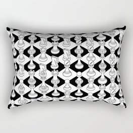 Isometric Chess WHITE Rectangular Pillow