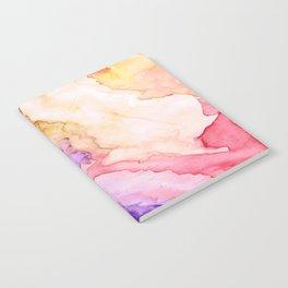Color My World Watercolor Abstract Painting Notebook