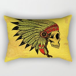 American Indians Death face Design Rectangular Pillow