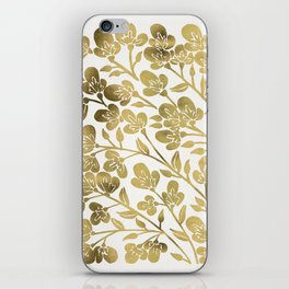 Cherry Blossoms – Gold Palette iPhone Skin