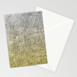 Silver and Gold Glitter Gradient Stationery Cards