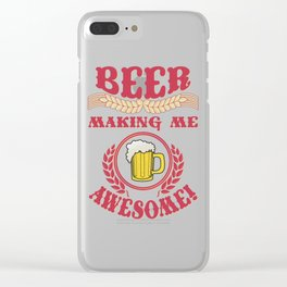 making me- I love beer Clear iPhone Case