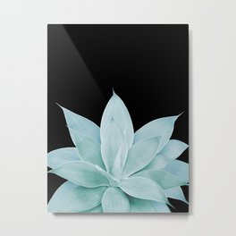 Green Agave on Black #1 #tropical #decor #art #society6 Metal Print