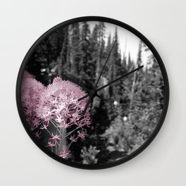 Flowers on the Mountain Wall Clock