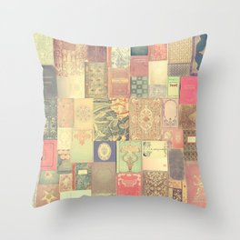 Dream with Books - Love of Reading Bookshelf Collage Throw Pillow