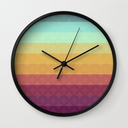 Retro Circles Wall Clock