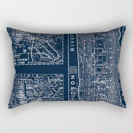 Vintage New York City Street Map Rectangular Pillow
