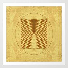 Alien crop circle. Sacred geometry. Art Print