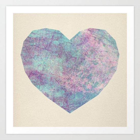 Scribble Heart Art Print