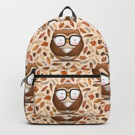 Seamless Owl Pattern Backpack