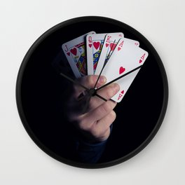 royal flush Wall Clock