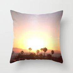 Sunrise & Palms Throw Pillow