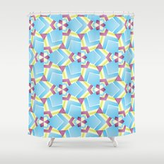 triangle kaleidoscope pattern Shower Curtain