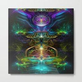 Neon - Fractal - Visionary Art - Manafold Art Metal Print
