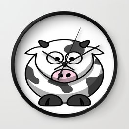100 Days of School Survived 100 Days of Me Cow Wall Clock