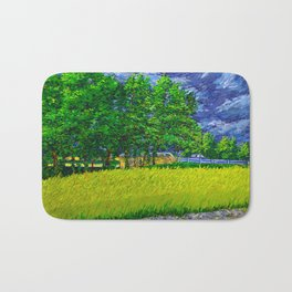 Trees near I-95 with Storm Clouds Bath Mat