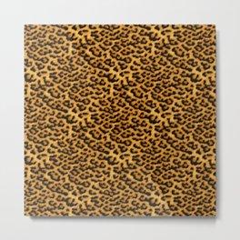 Chic Leopard Fur Fabric Metal Print