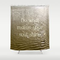 soul Shower Curtains featuring Soul by Alice Gosling