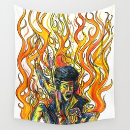 Rock and Flames Wall Tapestry
