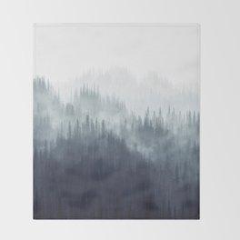 Forest Haze Throw Blanket