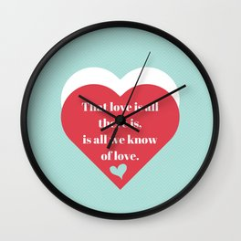 Saint Valentine's Day Wall Clock