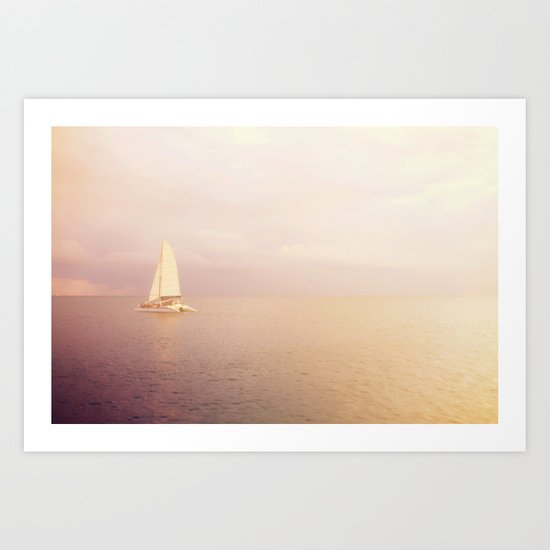 Out Across the Endless Sea Art Print