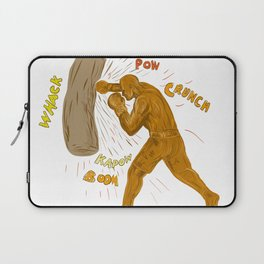 Boxer Hitting Punching Bag Drawing Laptop Sleeve