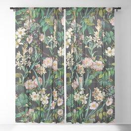 Midnight Garden XXIV Sheer Curtain