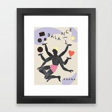 Balance & Karma Framed Art Print