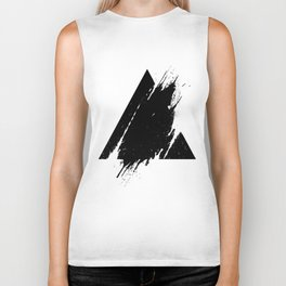Splashed Triangle Biker Tank