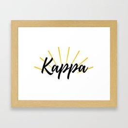 Sunshine Kappa Framed Art Print