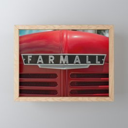 Vintage Red Tractor Farmall IH Front End Framed Mini Art Print