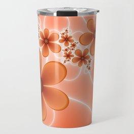 Good Mood, Fractal Art Fantasy Flowers Travel Mug
