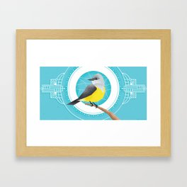 Western Kingbird Framed Art Print