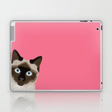 Peeking Siamese Cat - Funny cat meme for cat lovers, cat ladies gifts for cat people Laptop & iPad Skin