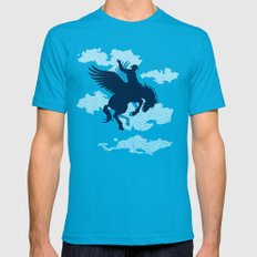 Sky Rodeo Teal LARGE Mens Fitted Tee