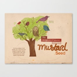 Mustard seed Canvas Print