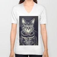 austin V-neck T-shirts featuring Austin by Rachel's Pet Portraits