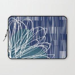 Blue Doodle Floral by Friztin Laptop Sleeve