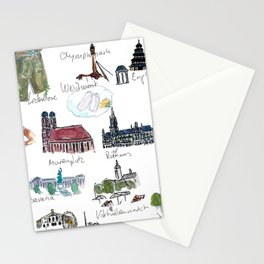 Travel Plans and Memos From For Munich Bavaria Stationery Cards