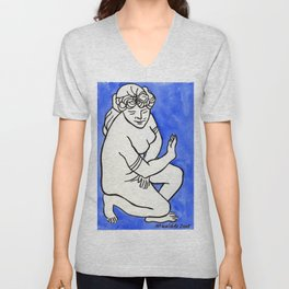 Greek Goddess Unisex V-Neck